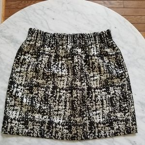 J. Crew Metallic Jacquard Elastic Waist Mini Skirt